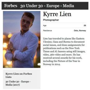 Kyrre Lien på Forbes-liste